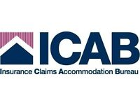 Claims Handler arranging alternative accommodation for people undergoing insurance claims