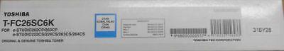 6k Toner Cyan (Original Toshiba T-FC26SC6K Toner cyan für e-STUDIO262CP 263CP  OVP A)
