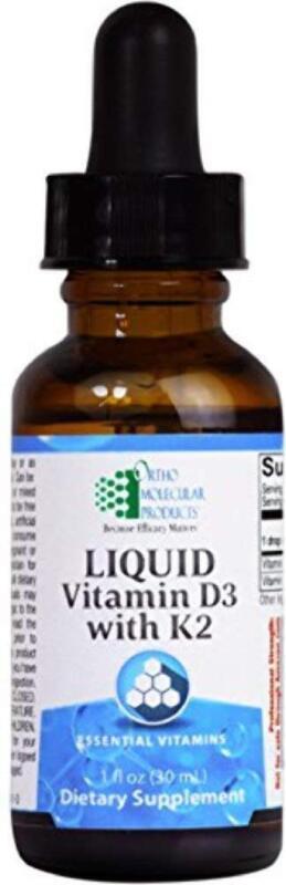 Ortho Molecular - Liquid Vitamin D3 with K2 - 1 OZ Liquid