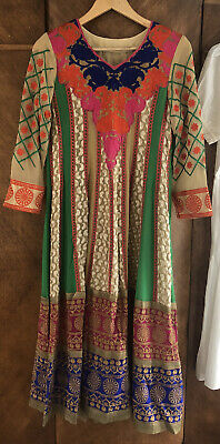 Vintage Indian Dress 10 1970's Style