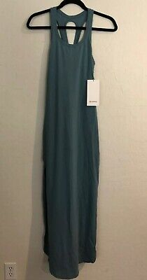 NWT Lululemon Size 10 Restore And Revitalize Dress AQCG Teal Green