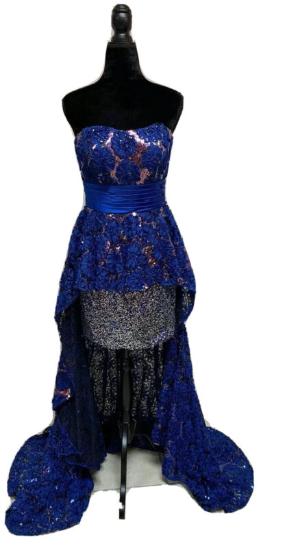 Size 8 Hi-Low Prom Party Homecoming Dance Pageant Formal Evening Gown Dress