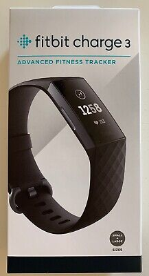 Fitbit Charge 3 Black/Graphite Aluminium FAST+FREE SHIPPING! BRAND NEW SEALED** Graphite Heart Rate Monitor