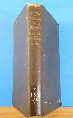 Pennsylvania Second Annual Report of Statistics 1873-1874 Hard Cover