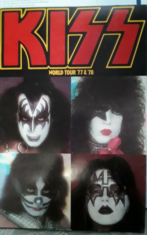 KISS World Tour Concert Program tourbook 77 & 78 Nice Paul STANLEY Gene Simmons