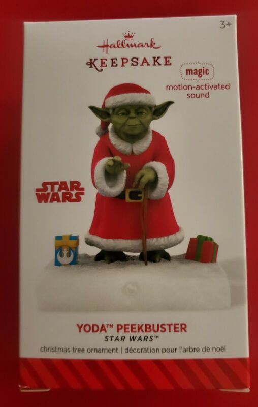 Yoda Peekbuster - Star Wars - 2014 Hallmark Keepsake Ornament! New! HTF!