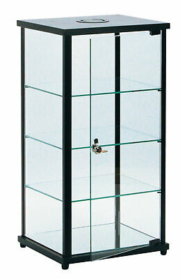 Lighted Glass Countertop Display Case - 27h X 12d X 14l