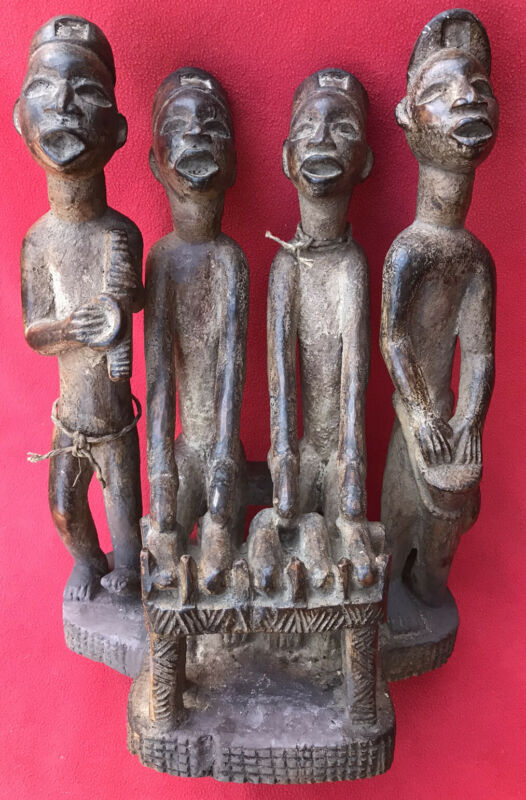 Outstanding & Fascinating Bakongo Haunting Spirit Musicians Carving