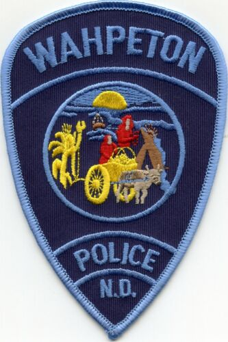 WAHPETON NORTH DAKOTA ND POLICE PATCH