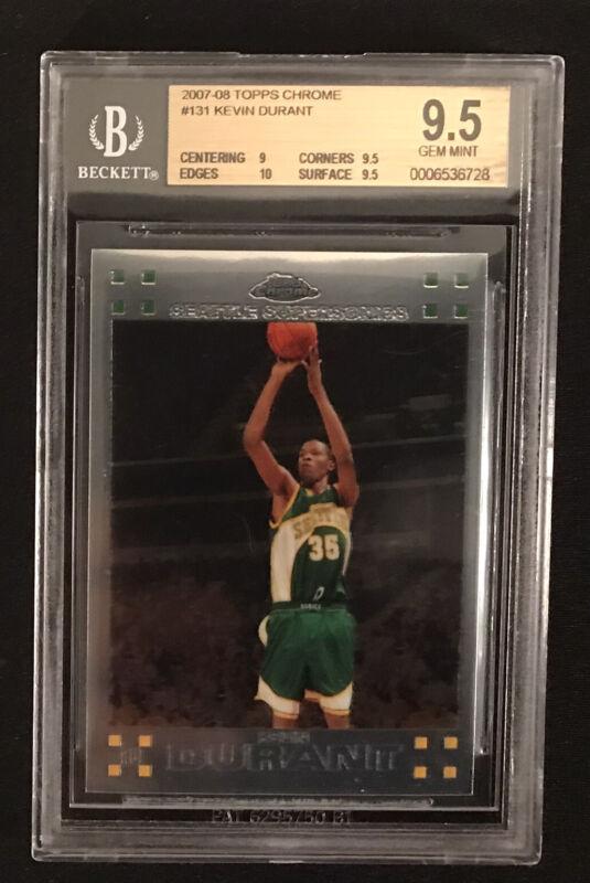 2007//08 Topps #2 Kevin Durant ROOKIE BECKETT 10 MINT Warriors Superstar MVP!