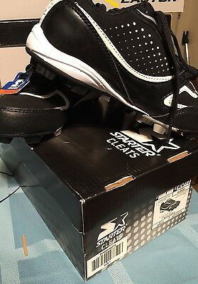 Baseball Cleats Boys Size 1 Black And White New Sports Starters School