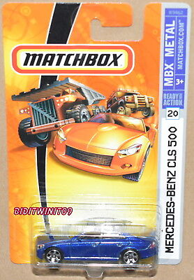 Matchbox 2007 MBX Metall Mercedes-Benz CLS 500 Blau W+