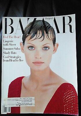 Vintage Harpers Bazaar June 1993 Amber Valletta Cover