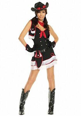 Bodysocks® Women's Wild West Costume Cowgirl Fancy Dress ()