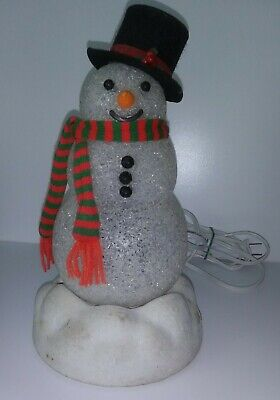 Vintage Avon Chilly Sam Light-Up Snowman Works *NO BROOM*NO BOX*