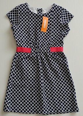 NWT Gymboree Best In Show Diamond Print Dress SZ 8 Blue Pink Short Sleeve