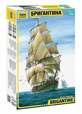 Zvezda 9011 English Sailing Ship Brigantine Plastic Kit 1:100