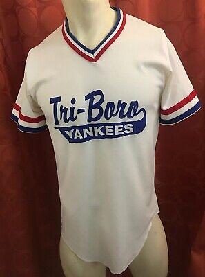 1667f5a78 Vintage 1990s WILSON USA MADE Tri-Boro YANKEES Baseball Jersey SHIRT NY NJ  19