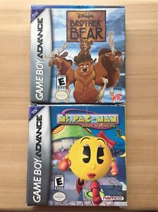 Lot of 2 Gameboy Advance Video Games Ms. Pac-Man & Brother Bear