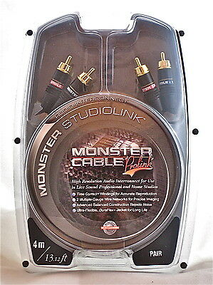 Monster Studiolink Interconnect (Monster Cable Prolink Studiolink Interconnect Audio Cable RCA Pair 4m/13.12ft )