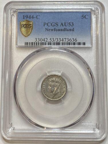 1944 C Newfoundland Five Cent 5C PCGS AU53
