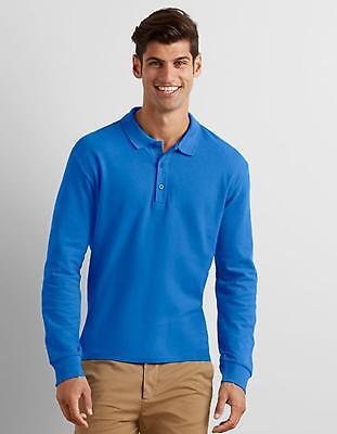 Herren Premium Cotton® Long Sleeve Double Piqué Polo | Gildan ()