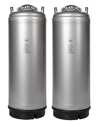 2 Pack New 5 Gallon Ball Lock Kegs - Homebrew Cold Brew Coffee - Free Shipping