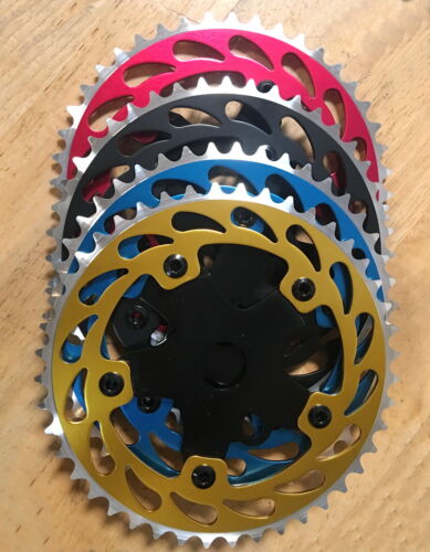"""NEW Bicycle ALLOY Sprocket 44T 1/2""""x1/8  Chainring BMX Cruiser Bike     4 Colors"""