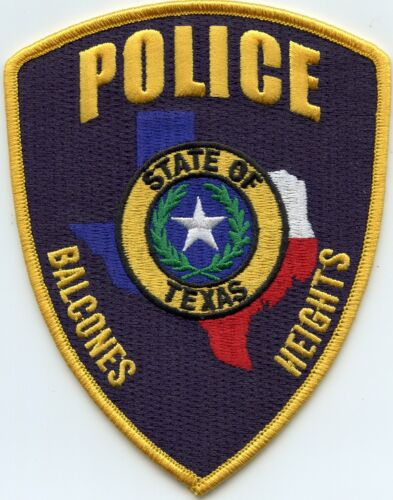 BALCONES HEIGHTS TEXAS TX POLICE PATCH