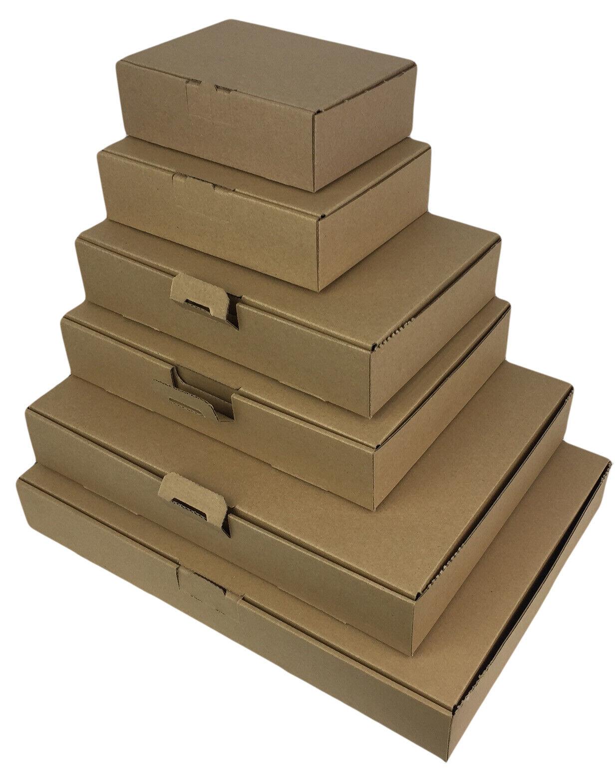 25 Lettera Maxi Cartoni Scatole 180 x 130 x 50 mm Din a6//b6 Spedizione Merci Marrone