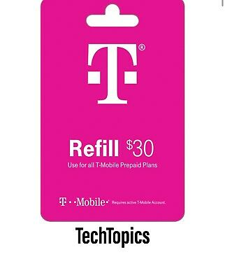 T-Mobile Prepaid $30 Refill Card (Direct)