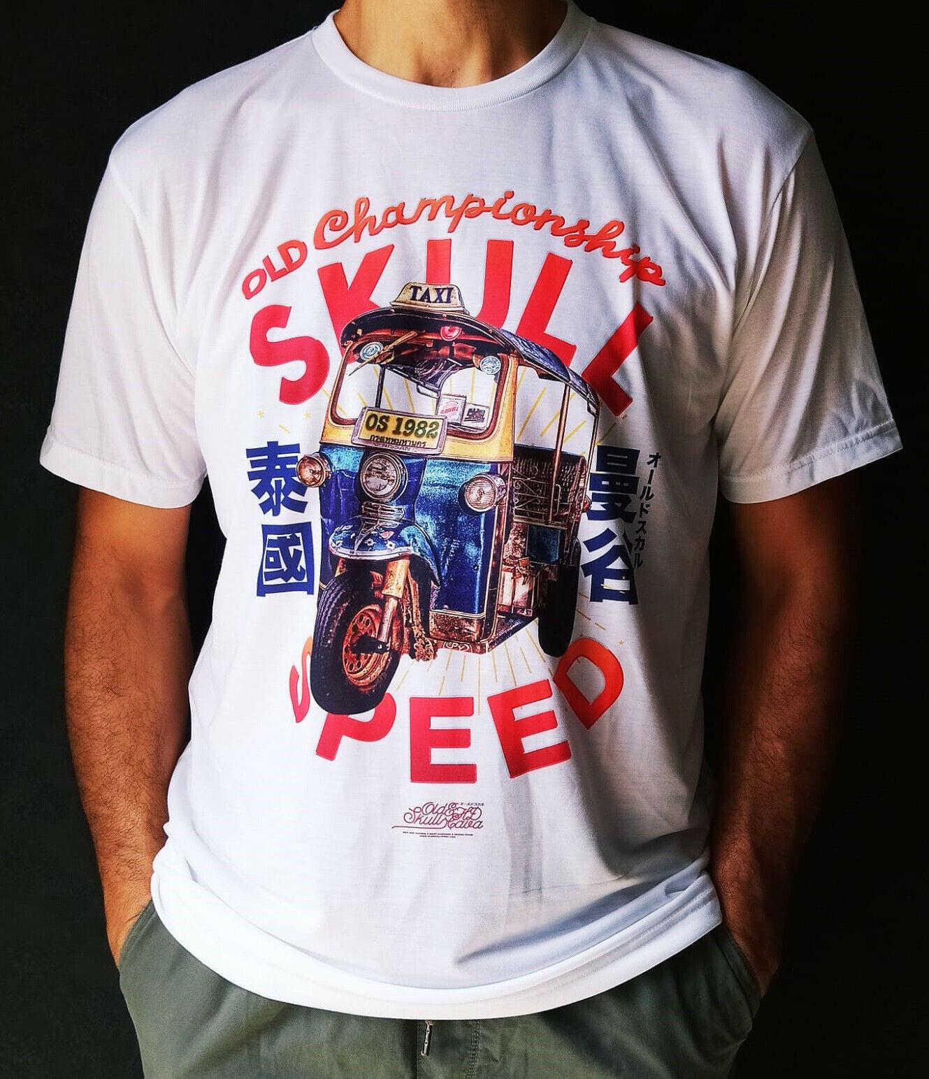 T-shirt Été Printemps blanc neuf, design original style vi