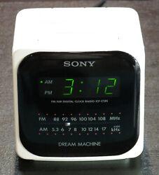 Sony Dream Machine Cube Alarm Clock AM/FM Radio Works Perfectly #ICF-C120 Nice!