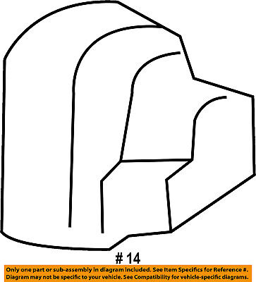 FORD OEM Transit Connect Second Row Back Rear Seat-Outer Cover FT1Z1762768BA