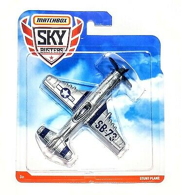 """Matchbox Sky Busters 2019 STUNT PLANE Die-cast Airplane Silver 4"""" SR-73 - NEW"""