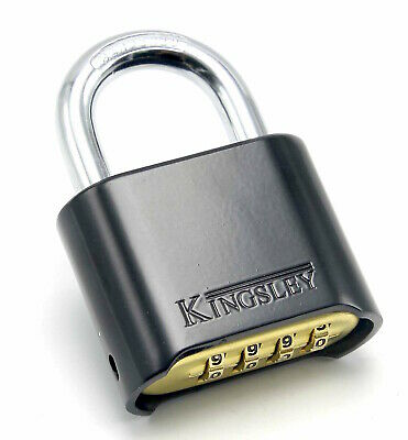 Resettable Combo Lock Combination Padlock Hardened Steel Shackle