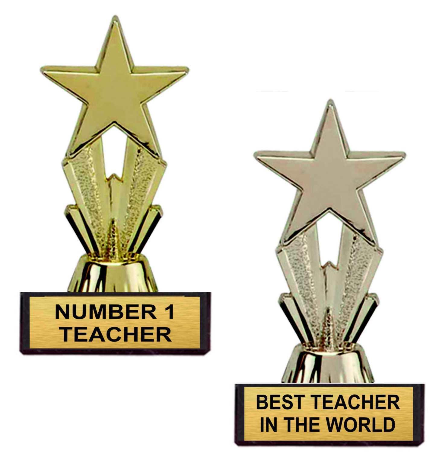 Teachers Day Star Trophy Gift Best Teacher In The World