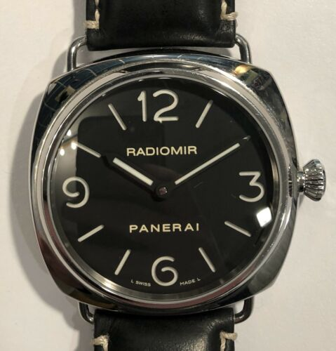 MEN'S PANERAI RADIOMIR STAINLESS STEEL OP6623 BLACK DIAL HAND WINDING. A+ Cond - watch picture 1