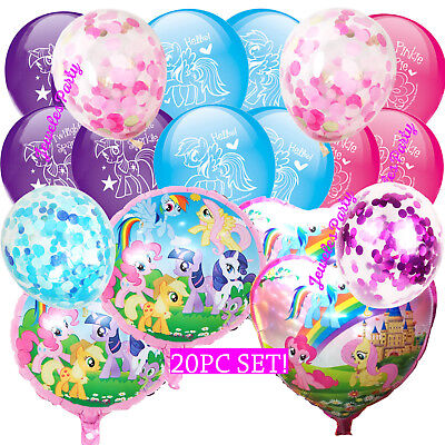 20PC CONFETTI MLP MY LITTLE PONY BALLOON BALLOONS BIRTHDAY PARTY  DECORATION - My Little Pony Balloons