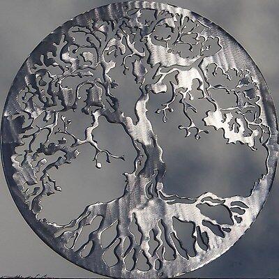Tree of Life Metal Wall Art Home Decor Polished Silver