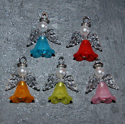 Guardian Angel Kit Makes 10 Beaded Pendants Charms Christmas + Instructions LK3