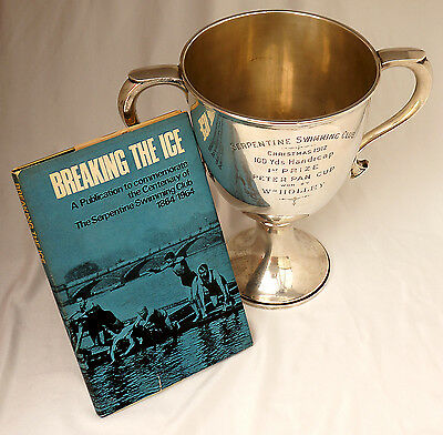Sterling Silver Trophy. Serpentine Swimming Club JM Barrie Peter Pan Cup 1912.