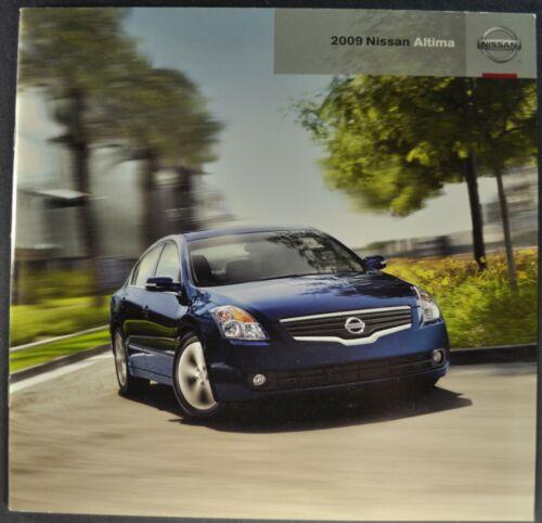 2009 Nissan Altima 30pg Brochure 3.5SE Coupe 2.5S 3.5SL Sedan Excellent Original
