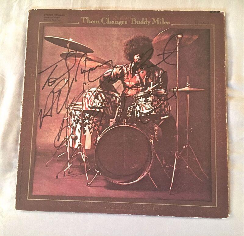 Buddy Miles SIGNED AUTOGRAPH LP CHANGES