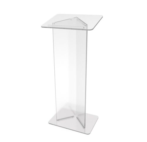 Podium Clear Ghost Acrylic Lectern or Pulpit - 15240 Easy Assembly Required15240