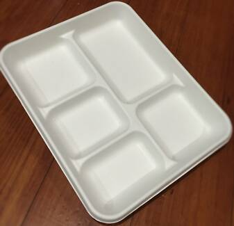 Disposable 5 Compartment Plate Eco Friendly Sugarcane Ferntree Gully Knox Area Preview