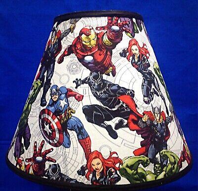 Black Panther Black Widow Avenger Ironman Marvel Hulk Captain America Lamp Shade (Avenger Black Widow)
