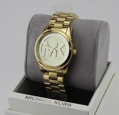 NEW AUTHENTIC MICHAEL KORS RUNWAY GOLD CHAMPAGNE WOMEN'S MK5786 WATCH