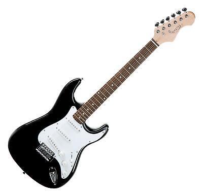 Guitarra Electrica Tremolo Strat ST-Style Set con Cable Tremolo 21 Trastes Negro