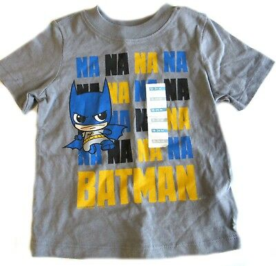 Used, Old Navy Batman Top Shirt Boys Gray 18-24 Months Short Sleeve Na na na for sale  Shipping to India